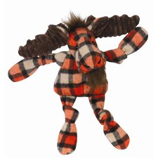 Knottie Plaid Moose Plush Dog Toy