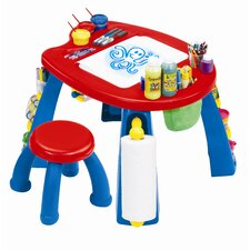 Crayola Creativity Play Station Kids' 2 Piece Table and Stool Set