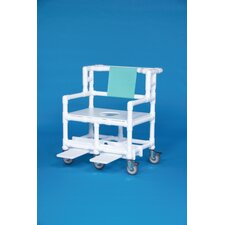 "Bariatric Shower Chair with 28"" Between Arms"