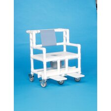 "Bariatric Shower Commode with 28"" Between Arms"