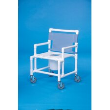 <strong>Innovative Products Unlimited</strong> Oversize Shower Commode with Flat Seat