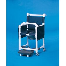 Deluxe Shower Commode with Lap Bar