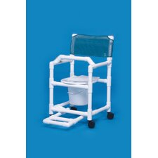 Standard Line Commode with Footrest and Lap Bar