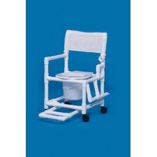 Standard Line Commode with Footrest and Left Drop Arm