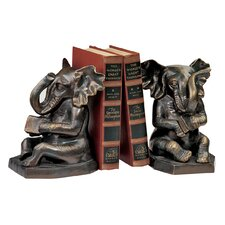 Educated Elephant Cast Iron Book End