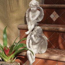 2 Piece Angels of Meditation and Contemplation Statue Set