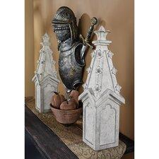 Ornamental Gothic Spire Pinnacle Statue (Set of 2)