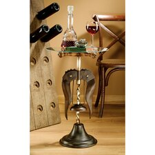 Vintage Wine Stewards Corkscrew End Table