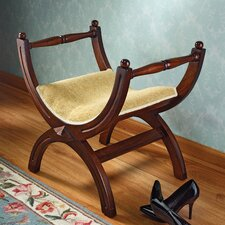 King's Curule Throne Wood Bench