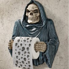 Wall Mounted Grim Reaper Sculptural Bath Tissue Tyrant