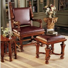 <strong>Design Toscano</strong> Lord Cumberland's Throne Arm Chair and Footstool Set