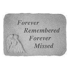 Forever Remembered...Angel Memorial Garden Marker Stepping Stone