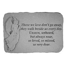 Unseen, Unheard, but Always Near...Angel Memorial Garden Marker Stepping Stone