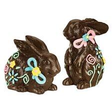 2 Piece Easter Bunny Statue Set