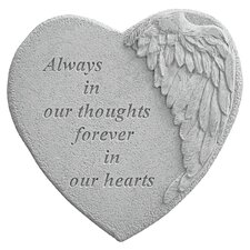 Always in Thoughts...Angel Wing Memorial Garden Marker Stepping Stone
