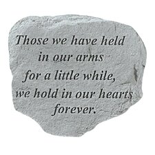 Held in Our Arms...Memorial Garden Marker Stepping Stone