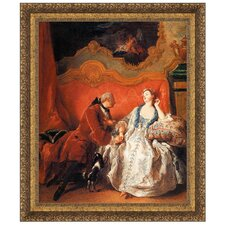 The Declaration of Love, 1735 by Jean Francois de Troy Framed Painting Print