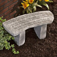 Your Memory is My Keepsake...Cast Stone Garden Bench
