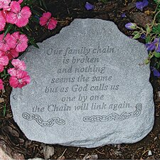 Our Family Chain...Memorial Garden Marker Stepping Stone