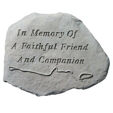 In Memory Of A Faithful Friend...Memorial Garden Marker Stepping Stone