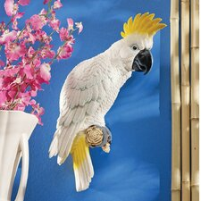 <strong>Design Toscano</strong> Sulphur-Crested Cockatoo Wall Décor (Set of 2)