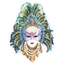 Maidens of Mardi Gras Peacock Princess Mask Wall Décor