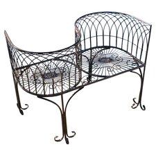 Tete a Tete Kissing Metal Garden Bench