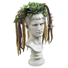 Bust Planter of Antiquity Emperor Caligula Statue