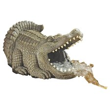 Alligator Decorative Gutter Guardian Downspout Statue