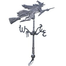 Wicked Witch Windblown Roof Mount Weathervane