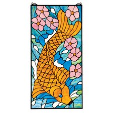 Asian Koi Stained Glass Window