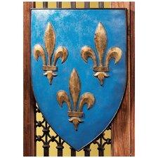 Grand Arms of France Fleur de Lis Shield Wall Décor