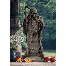 <strong>Design Toscano</strong> Rest in Pieces Grim Reaper Tombstone Statue