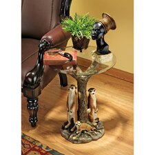 Meerkat Clan Sculptural End Table