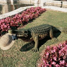 The Gargantuan Garden Gator Statue