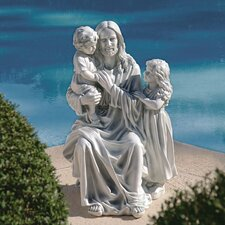 Jesus Loves The Little Children Garden Statue