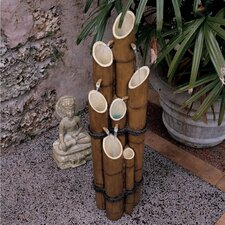 Resin Bamboo Sculptural Fountain