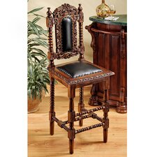 Charles II Gothic Bar Stool with Cushion