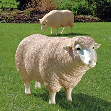 <strong>Design Toscano</strong> Merino Ewe Life Size Head Up Sheep Statue