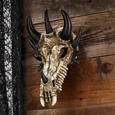 <strong>Design Toscano</strong> Manchester's Dragon Bones Sculptural Skull Trophy Wall Décor