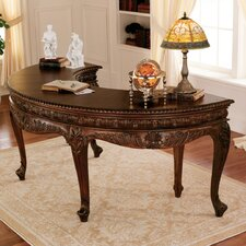 La Voute Grande Crescent Mahogany Executive Writing Desk