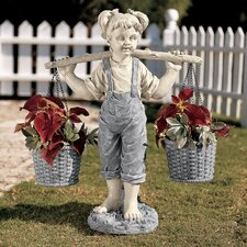 Flowers for Felicity Garden Statue