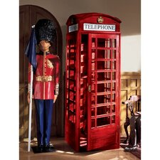 <strong>Design Toscano</strong> Authentic Replica British Telephone Booth Sculpture