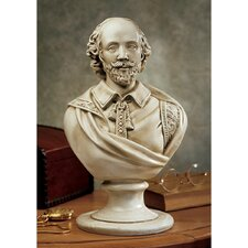 William Shakespeare Desktop Sculptural Bust in Antique Stone