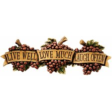Live-Love-Laugh Wall Sculpture