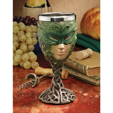 <strong>Design Toscano</strong> Forest Spirits Greenman Lady of the Leaf Goblet