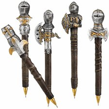 <strong>Design Toscano</strong> 5-Piece Knights of the Realm Battle Armor Pen Set