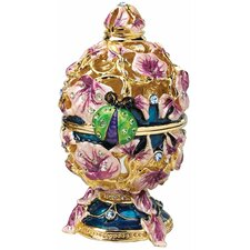 <strong>Design Toscano</strong> The Royal Garden Ladybug Enameled Egg in Lavender