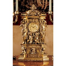 <strong>Design Toscano</strong> Chateau Chambord Clock in Antique Faux Gold