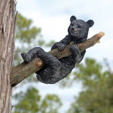 Up A Tree Hanging Bear Cub Statue